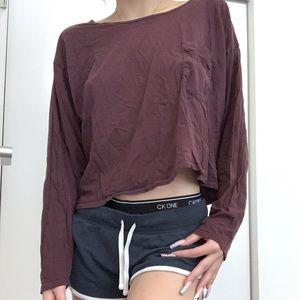 American Apparel oversized cropped long sleeve t shirt (OG $ ~ 60)